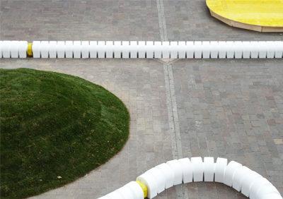 THYRUS installation in Piazza della Repubblica
