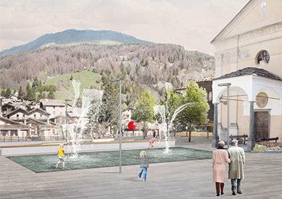 RIQUALIFICAZIONE DEL CENTRO DI CHAMPOLUC mobility and new public spaces
